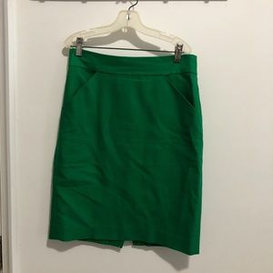 Kelly Green Jcrew pencil skirt
